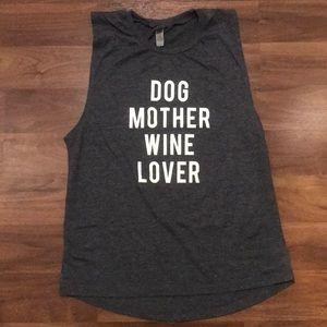Dog Mother Wine Lover tank top Medium